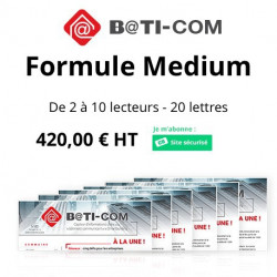 Newsletter B@TI-COM : Formule Medium