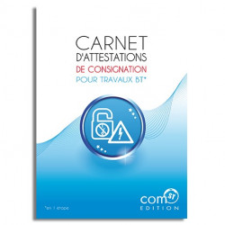 Carnet d'Attestations de Consignation